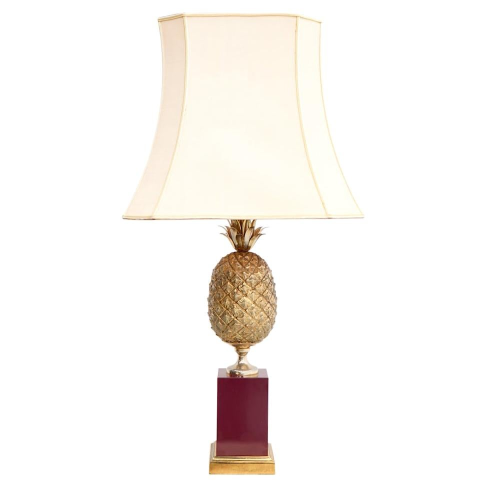 Brass Pineapple Table Lamp, France, 1970s