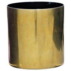 Cylindrical Brass Planter by Paul Mayen for Habitat International