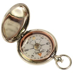 Brass Pocket Compass Used by American Aviation Officers, 1915