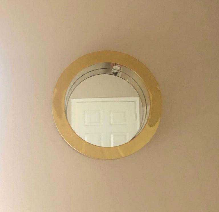 American Brass Porthole Mirror Signed C. Jere