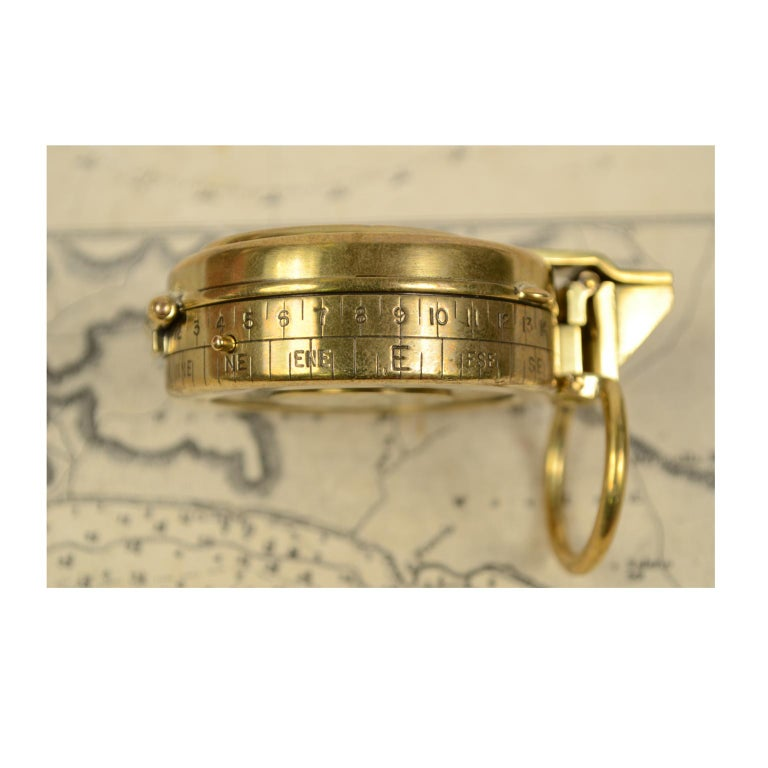 Brass Prismatic Bearing Compass, 1918 For Sale 2