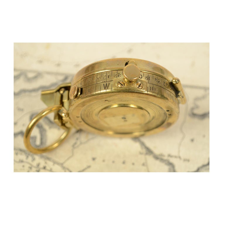 Brass Prismatic Bearing Compass, 1918 For Sale 3