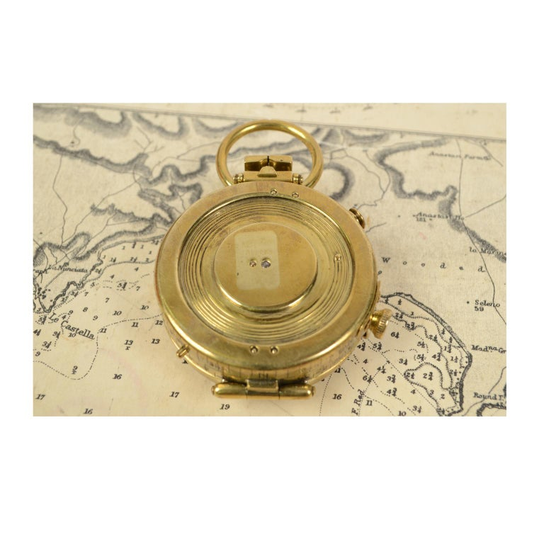Brass Prismatic Bearing Compass, 1918 For Sale 4