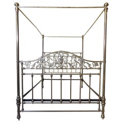 Brass Queen Size Four Poster Bed C1890