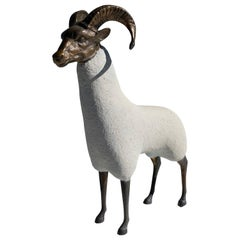 Brass Ram / Sheep Sculpture