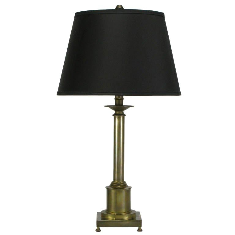 Brass Regency Style Footed Table Lamp