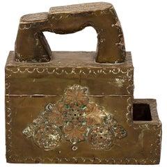 Brass Repoussé Shoe Shine Kit