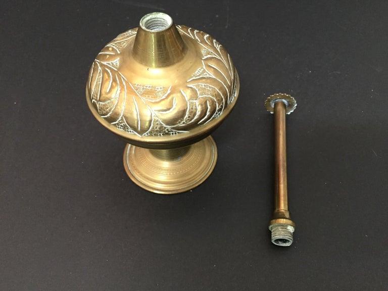 Brass Repousse Rose Water Perfume Sprinkler Bottle For Sale 5