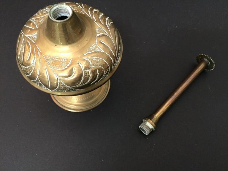 Brass Repousse Rose Water Perfume Sprinkler Bottle For Sale 6