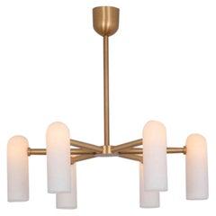 Brass Round Chandelier by Schwung