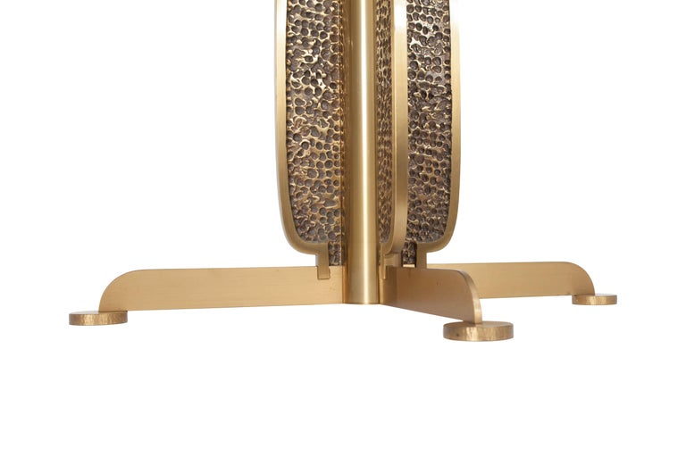 Brass Round Dining Table by Luciano Frigerio, Italy, 1970s For Sale 4