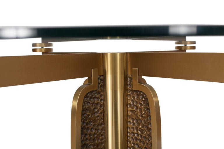 Post-Modern Brass Round Dining Table by Luciano Frigerio, Italy, 1970s For Sale