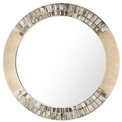Brass Round Wall Mirror