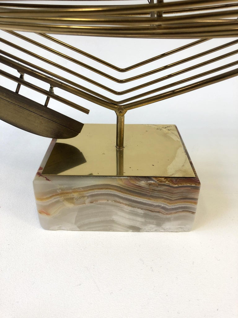 Late 20th Century Brass Sailboat Sculpture by Curtis Jere For Sale