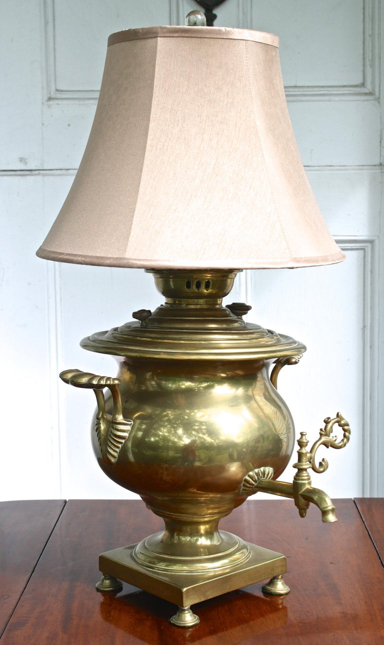 Brass Samovar Lamp For Sale 1