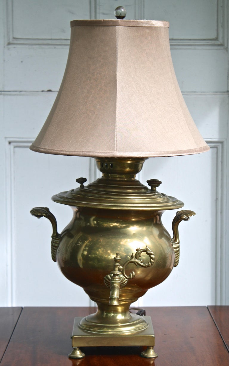 Brass Samovar Lamp For Sale 2