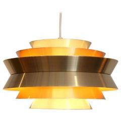 Brass Scandinavian Design Carl Thore Trava Hanging Lamp for Granhaga, Sweden