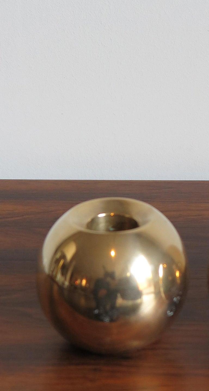 Scandinavian Modern Brass Scandinavian Mid-Century Modern Candleholder Candlesticks, 1950s For Sale