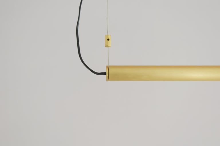 Greek Brass Sculpted Light Suspension, My Queen I, Signed Periclis Frementitis For Sale