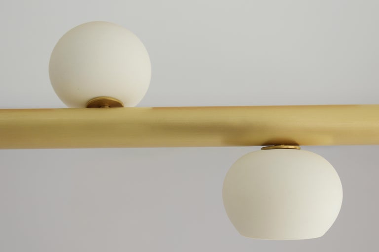 Hand-Crafted Brass Sculpted Light Suspension, My Queen I, Signed Periclis Frementitis For Sale