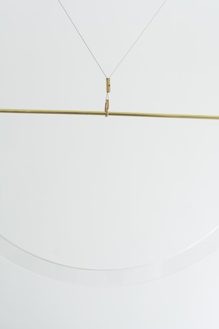 Brass Sculpted Light Suspension, Opus X, Periclis Frementitis In New Condition For Sale In Geneve, CH