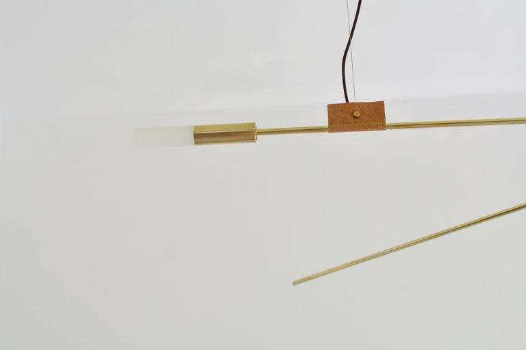 Brass Sculpted Light Suspension 'Opus XI', Periclis Frementitis For Sale 1