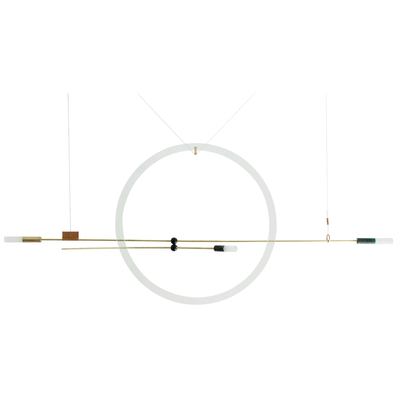 Brass Sculpted Light Suspension 'Opus XI', Periclis Frementitis