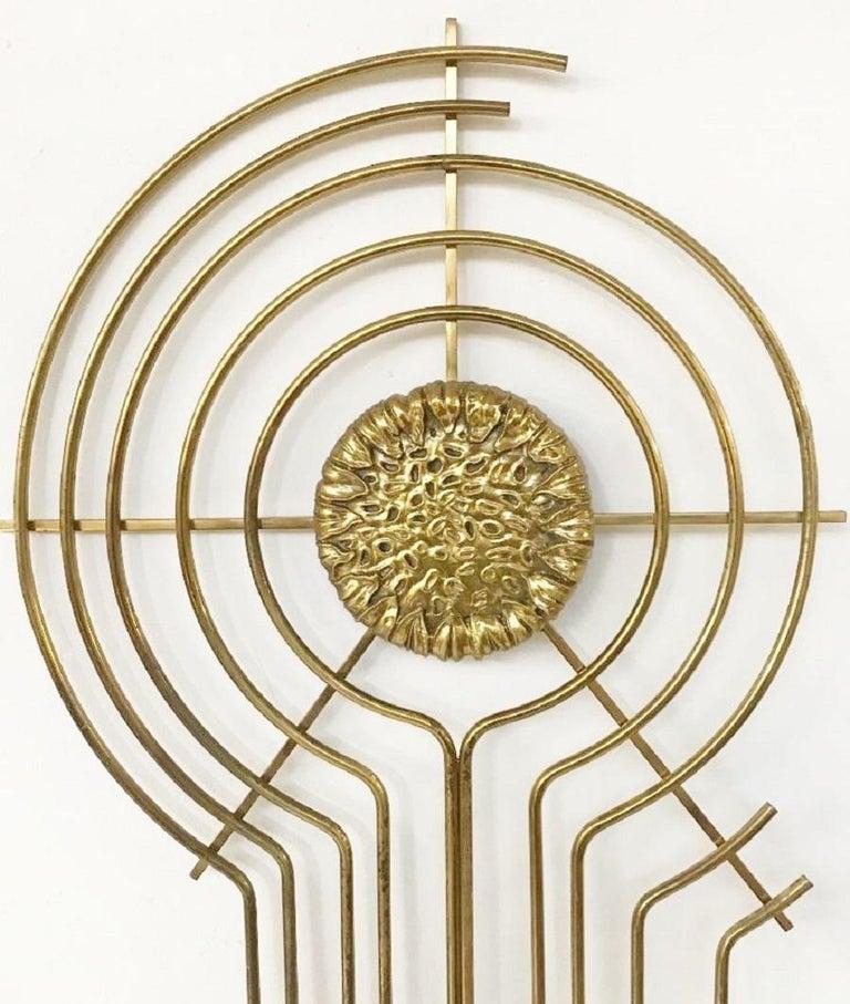 Mid-Century Modern Brass Sculpture For Sale