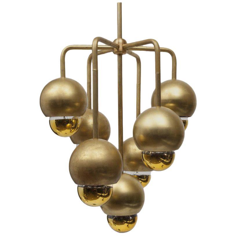 Brass Septetable Bubble Pendant Light