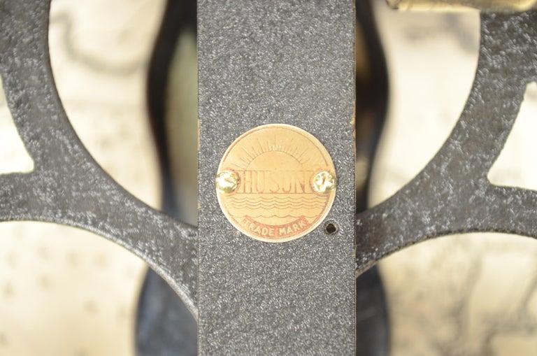 Brass Sextant in its Original Oak Wood Box, 1940s For Sale 9