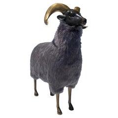 Brass Sheep Ram Sculpture
