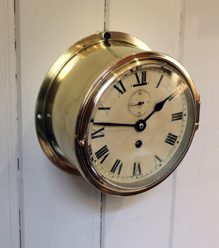 Official Website Vtg Smiths Empire Nautical Ship Bulkhead Clock Maritime Clocks