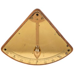 Brass Ship's Inclinometer, circa 1910