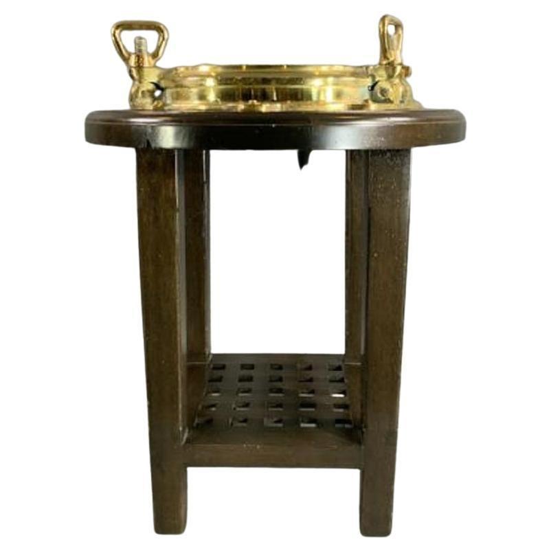 Brass Ship's Porthole Table