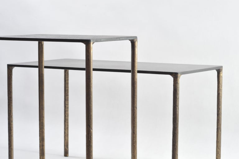 Brass Side Table Signed by Lukasz Friedrich For Sale 4