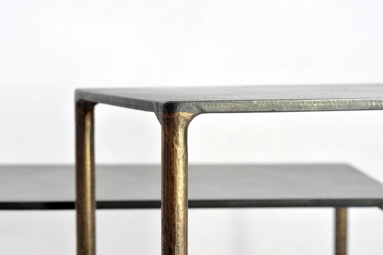 Brass Side Table Signed by Lukasz Friedrich For Sale 7