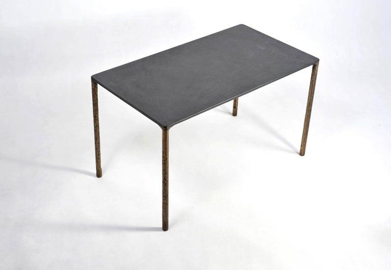 Modern Brass Side Table Signed by Lukasz Friedrich For Sale
