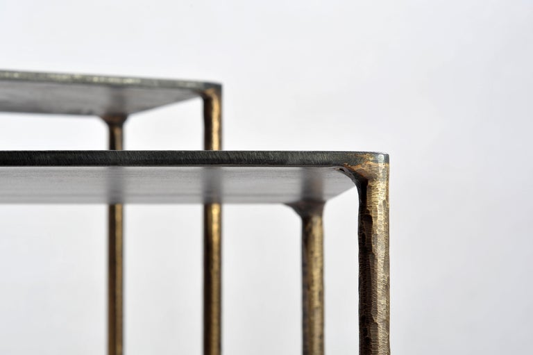 Brass Side Table Signed by Lukasz Friedrich In New Condition For Sale In Geneve, CH