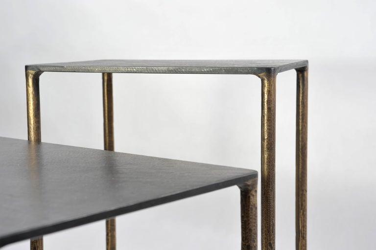 Contemporary Brass Side Table Signed by Lukasz Friedrich For Sale