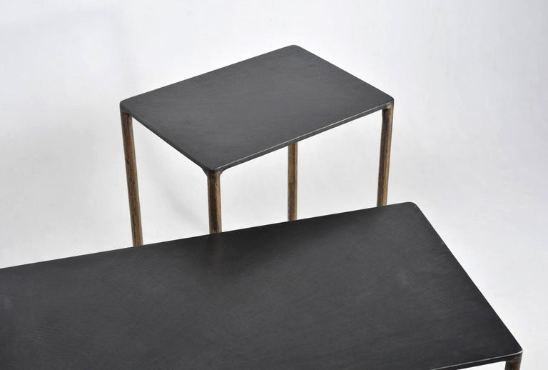 Brass Side Table Signed by Lukasz Friedrich For Sale 1