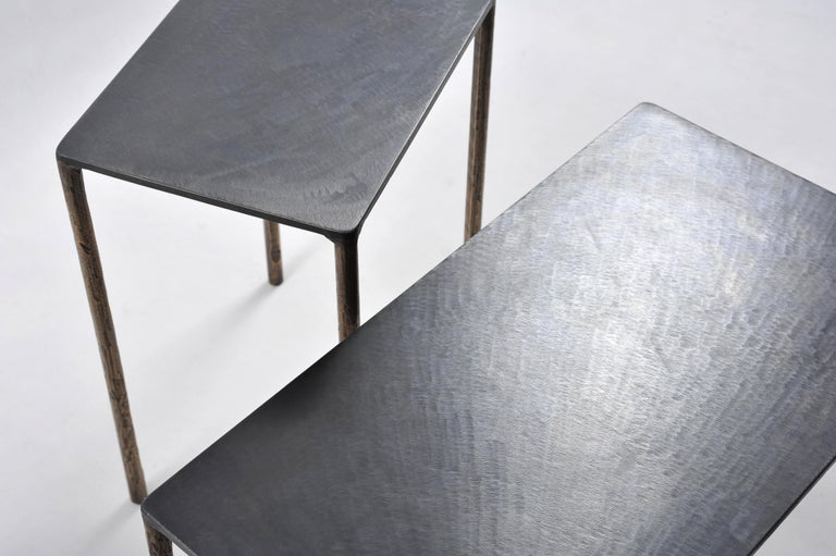 Brass Side Table Signed by Lukasz Friedrich For Sale 2