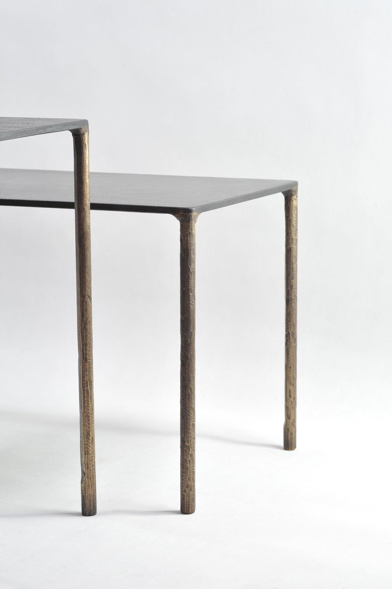 Brass Side Table Signed by Lukasz Friedrich For Sale 3