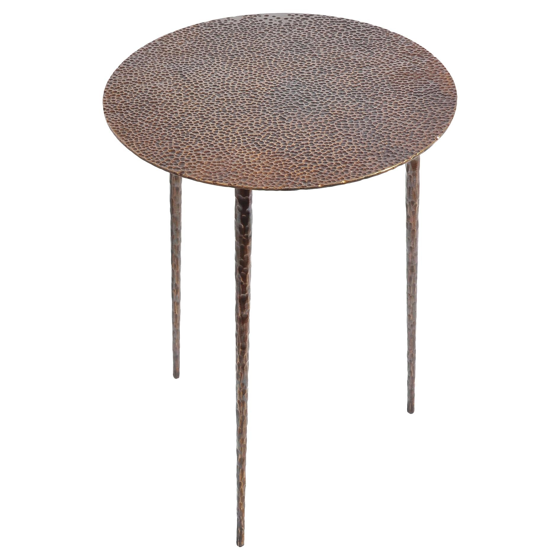 Brass Side Table Signed by Lukasz Friedrich