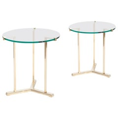 Brass Side Tables by Peter Ghyczy