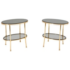 Brass Side Tables, Italy, 1970s