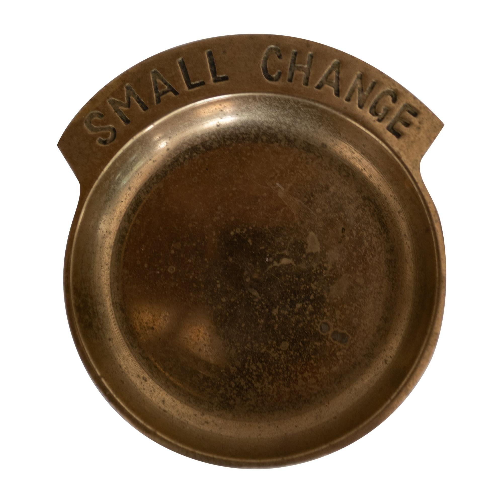 Brass Small Change Catch All, 1970s