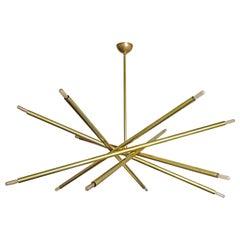 Brass Spiral Chandelier 'XL-6' by Gallery L7