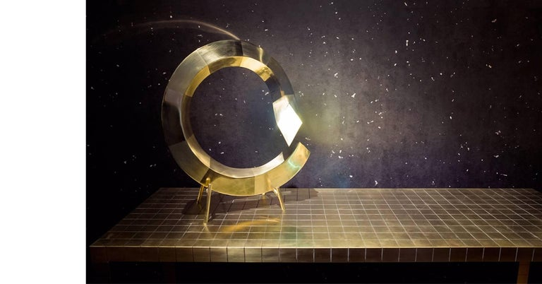 Post-Modern Brass Spiral Table Lamp, Rooms For Sale