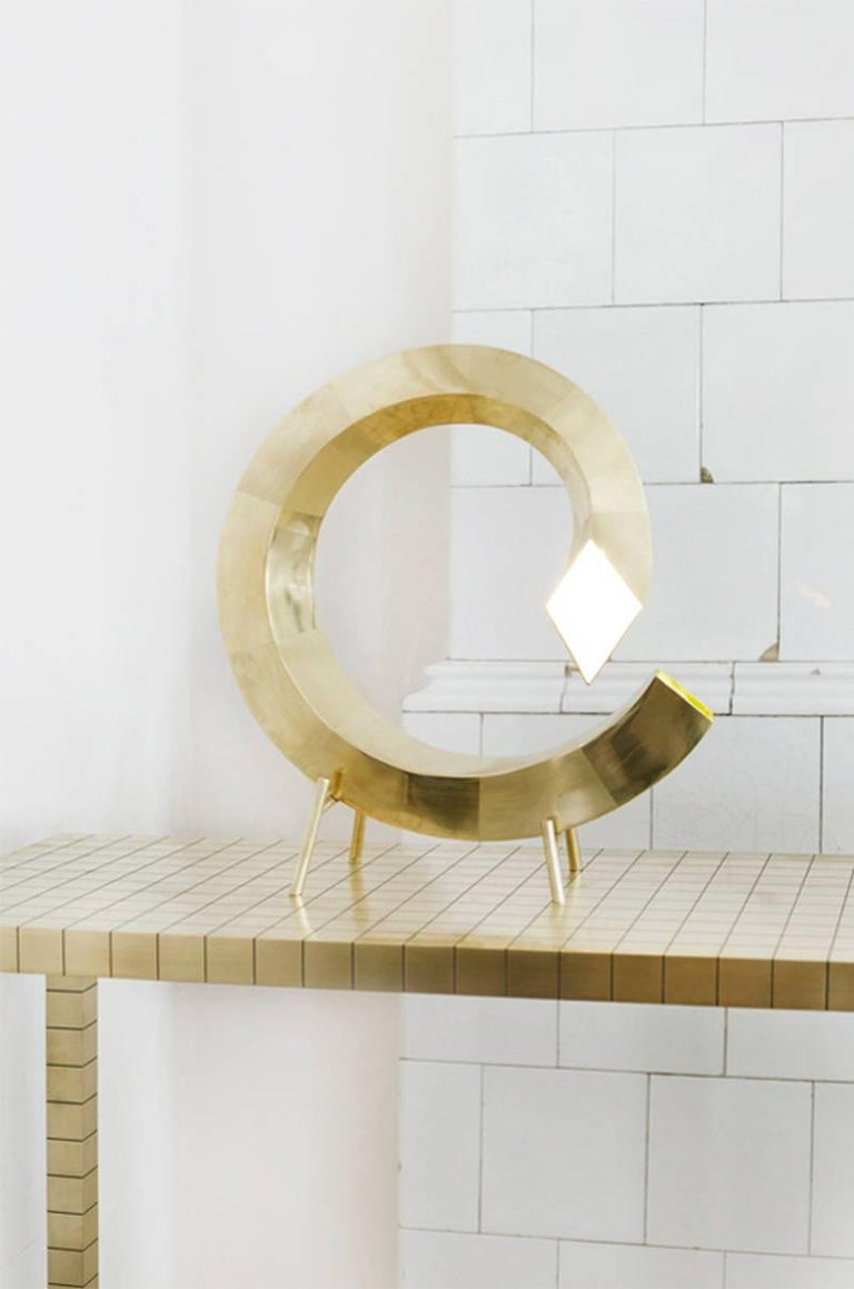 Georgian Brass Spiral Table Lamp, Rooms For Sale