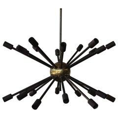 Brass Sputnik Ceiling Pendant, USA, 1950s